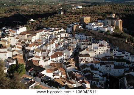 Setenil De Las Bodegas from the sky