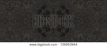 Brown Ethnic Pattern. Abstract Kaleidoscope