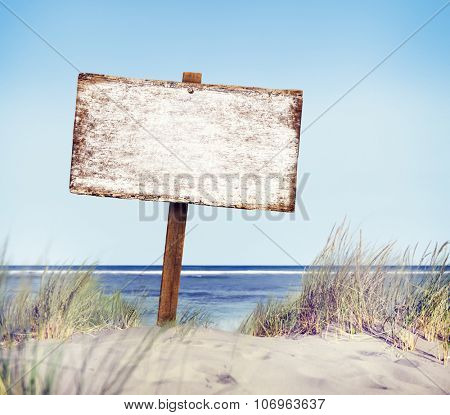 Wooden Sign Directional Guidepost Information Concept