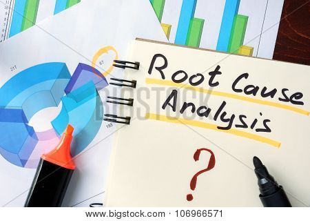Notepad with RCA - Root Cause Analysis.