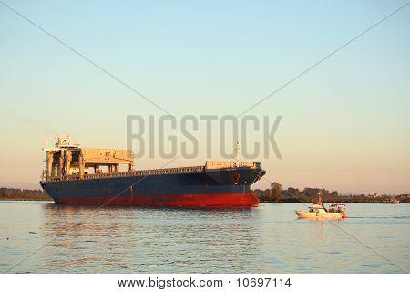 Fraser River Freighter and Gillnettersrs
