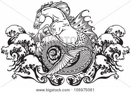 hippocampus mythological seahorse