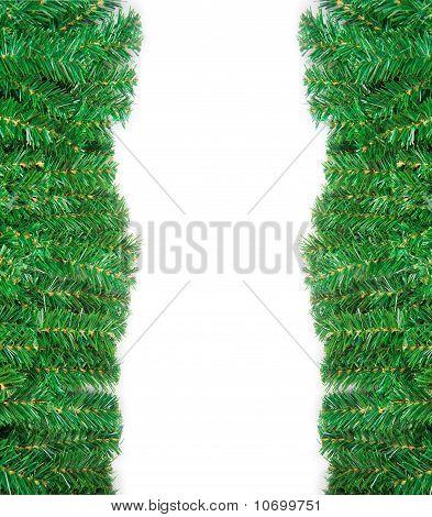 Christmas green framework isolated on white background