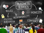 Business Ethnics Rules Honesty Responsibility Concept poster