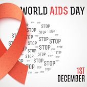 World Aids Day. Stop Aids. 1th december. Design of the brochure against AIDS. World day of fight against AIDS. Design of the poster, brochure, card, leaflet. Treatment of AIDS. Medicine poster