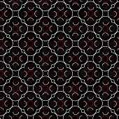 Retro background with geometrical shapes in red black and white poster