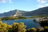 beautiful bay at peleponnese eastcoast in greece poster