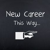 New career, new job, employment, recruitment, occupation opportunities concept background poster