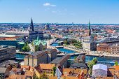 Copenhagen City Denmark Scandinavia. Beautiful summer day poster