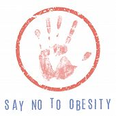 Conceptual vector illustration - the fight against obesity poster
