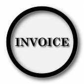 Invoice icon. Internet button on white background. poster