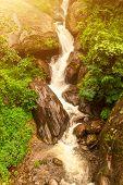 Beautiful river landscape and rocks in Nepal, Annapurna trekking poster