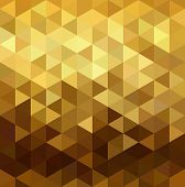 Fancy golden seamless pattern in low polygon mosaic style. Ideal for web background print or greeting card. EPS10 vector. poster