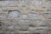 old stone wall background. close-up. porto portugal poster