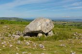 Arthurs Stone neolithic burial ground Cefn Bryn hill The Gower peninsula South Wales UK near Reynoldston poster