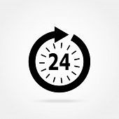 opening hours icon on a white background vector illustration poster