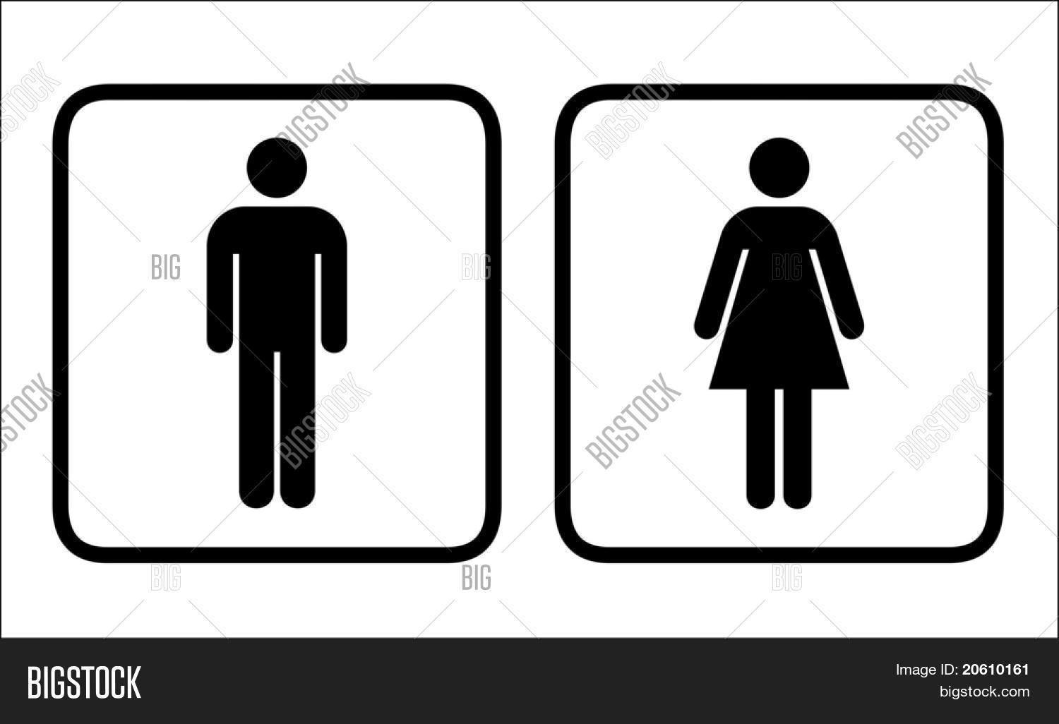 restroom signs vector vector photo free trial bigstock rh bigstockphoto com Printable Restroom Signs Printable Restroom Signs