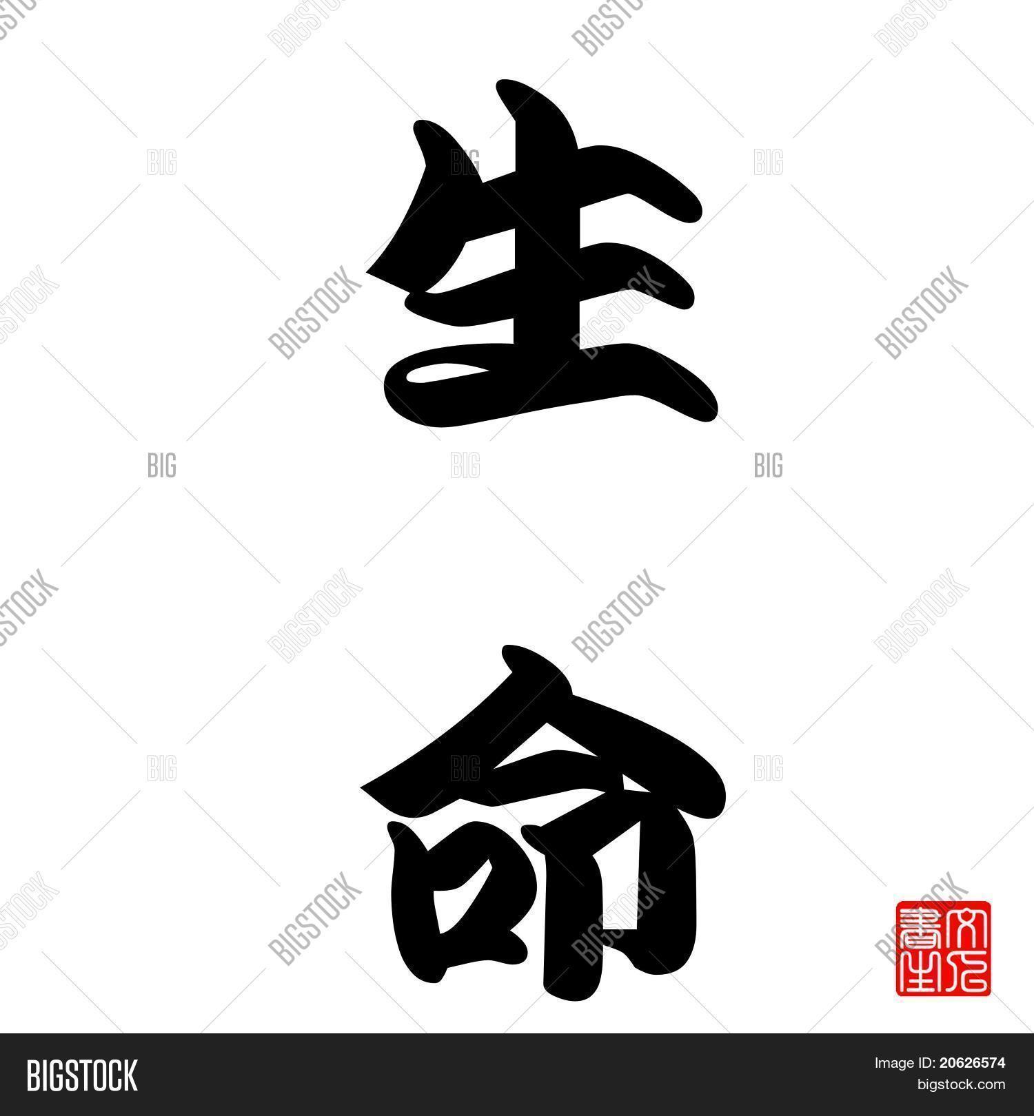 Japanese Calligraphy Life Image Photo Bigstock