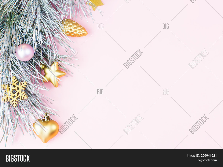 Pastel Christmas Ornaments.Christmas Border Fir Image Photo Free Trial Bigstock
