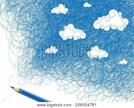 Drawing sky