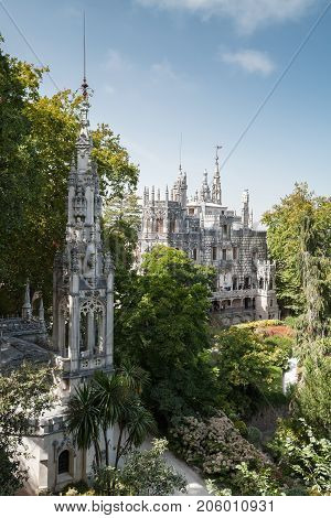 Sintra, Palace And Chapel Of Quinta Da Regaleira