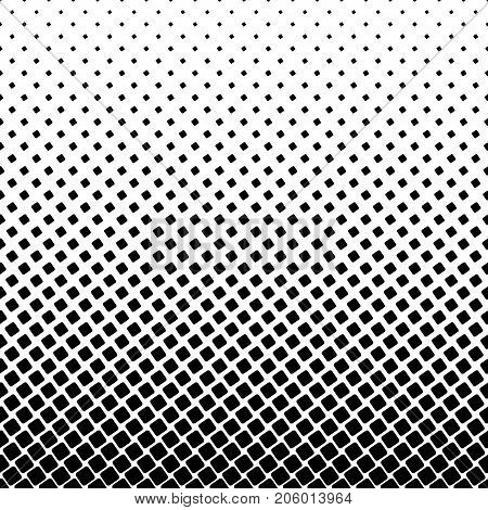 Monochromatic square pattern - geometrical abstract vector background design from angular rounded squares