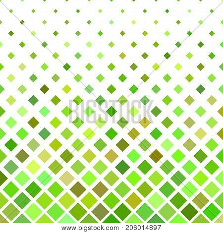 Colored abstract square pattern background - geometric vector illustration from diagonal squares in green tones
