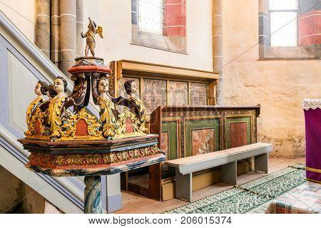 CARTA MONASTERY ROMANIA - 15 NOVEMBER 2014: Carta Monastery former Cistercian (Benedictine) religious architecture in Sibiu Transylvania.