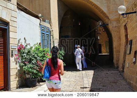 Tourist attraction. Jaffa. Ancient port city of Israel