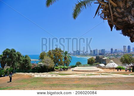 Panorama of Tel-Aviv from the city of Jaffa. Israel. 2013