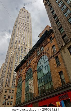 New York City, Usa, September 14, 2017 : Empire State Building. The Empire State Building Stood As T