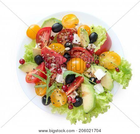 vegetarian salat on a white background