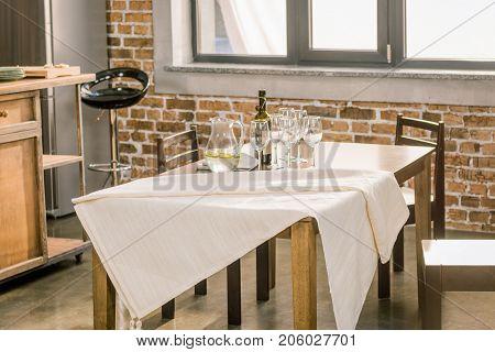 Served Table For Dinner