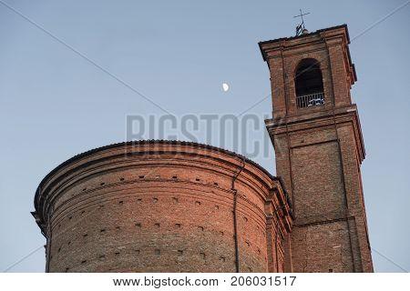 Cesena (Emilia Romagna Italy): the medieval castle at evening