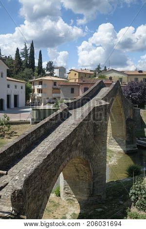 Modigliana (Forli Cesena Emilia Romagna Italy): the medieval bridge known as Ponte di San Donato or Ponte della Signora