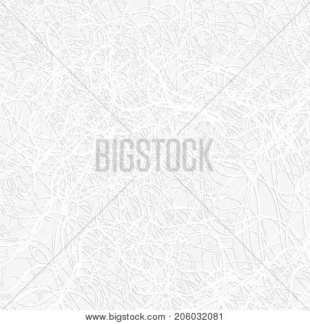 White thread on the gray background. Vector illustration.