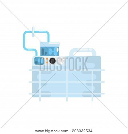 Apparatus for lung ventilation, medical equipment vector Illustration isolated on a white background