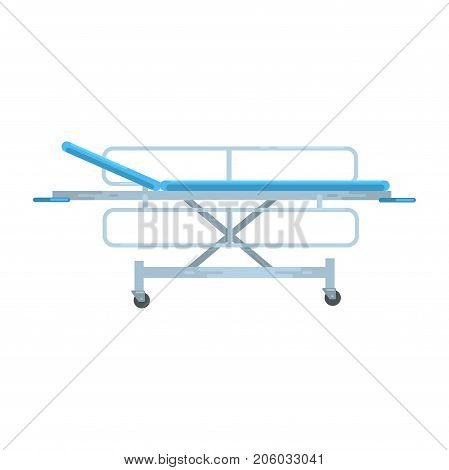 Adjustable mobile hospital bed , medical equipment vector Illustration isolated on a white background