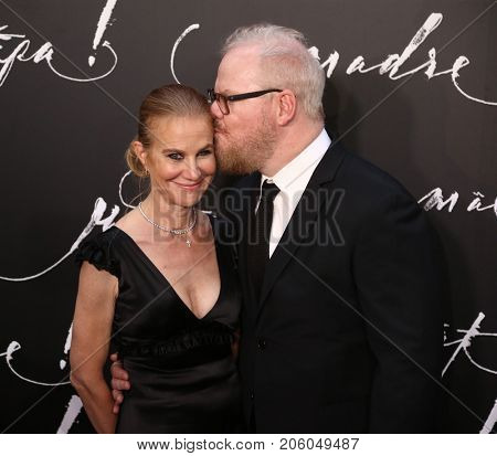 NEW YORK-SEP 13: Comedian Jim Gaffigan (R) and wife Jeannie attend the