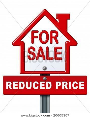 Home Sale Reduced Price Sign