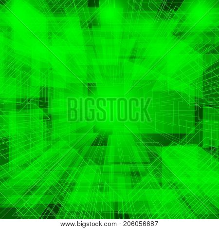 Abstract technology green background, techno digital design.