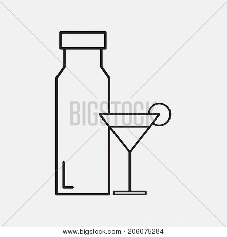 Drinks sketch icon set for web, mobile and infographics. Hand drawn drinks icon. Drinks vector. Drinks icon isolated on background.