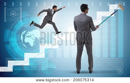 Businessman in financial forecasting business concept