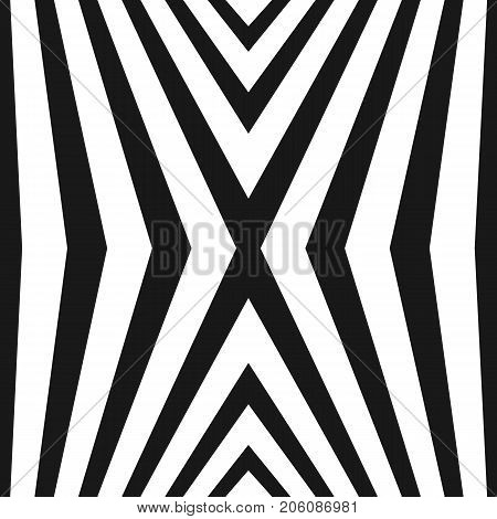 Vector seamless pattern with black & white striped lines. Geometric texture with vertical crossing stripes. Abstract monochrome background, pop art style. Repeat design for decor, covers, digital, web. Stripes pattern. Lines texture.