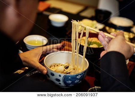 Soba noodle japanese food cuisine