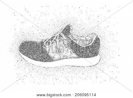 sneakers of particles