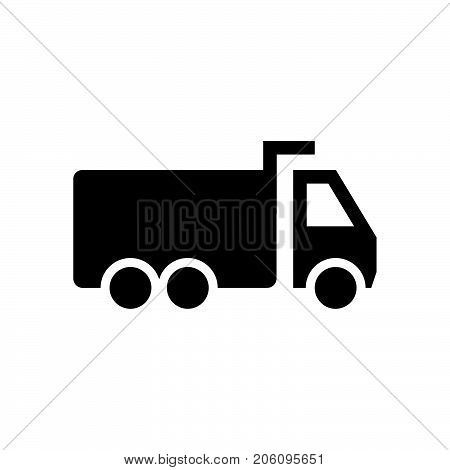 Dump truck icon iconic symbol on white background. Vector Iconic Design.