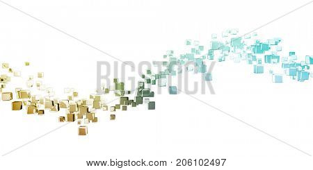 Business Analytics Software Cube as a Tech Concept 3D Illustration Render