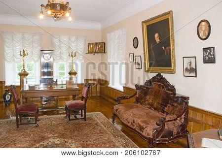 Vinnitsa,Ukraine, MAY  27, 2012: Cabinet Russian surgeon of the 19th century Nikolai Pirogov, the museum