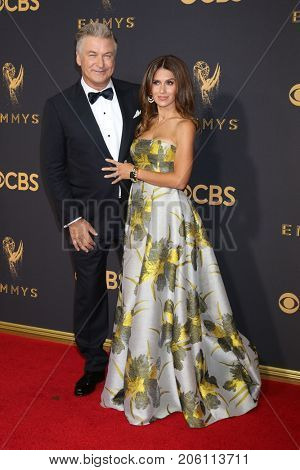 LOS ANGELES - SEP 17:  Alex Baldwin, Hilaria Baldwin at the 69th Primetime Emmy Awards - Arrivals at the Microsoft Theater on September 17, 2017 in Los Angeles, CA